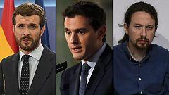 """Casado y Rivera piden que """"no se indulte a los condenados"""" e Iglesias insta a la """"reconciliación"""""""