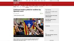 La sentencia del 'procés' protagoniza también la prensa internacional