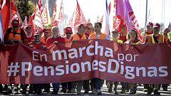 A partir de hoy - Las emocionadas palabras de un pensionista en la marcha hacia Madrid