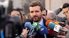 """Casado quiere la recuperación de competencias de administración penitenciaria y Calvo recuerda que """"lo que toca"""" es ayudar al Gobierno"""