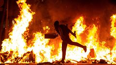 Violentos disturbios en las principales ciudades catalanas en la segunda jornada de protestas por la sentencia del 'procés'
