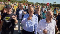 Torra no condena la violencia y se une a las marchas independentistas