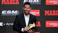 Messi da las gracias por su sexta Bota de Oro