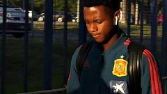 """Ansu Fati: """"Estaba nervioso pero al entrar al campo se me han ido los nervios"""""""