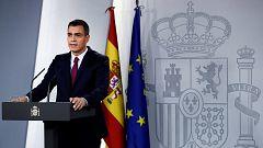 """Sanchez a Torra: """"tiene el deber político y el deber moral de condenar el uso de la violencia en Barcelona"""""""