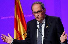 """Torra condena la violencia en Cataluña y la atribuye a """"grupos de infiltrados"""""""