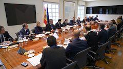 Sánchez preside la reunión del Comité de Coordinación sobre la situación en Cataluña