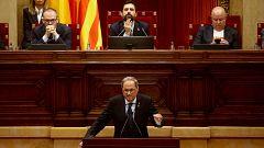 Torra propone repetir un referéndum de autodeterminación y la oposición pide su dimisión