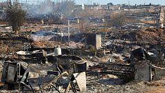 Un incendio en un campamento chabolista de Lepe deja a 145 personas en la calle