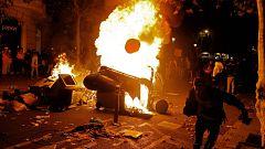 Los CDR vuelven a formar barricadas en el centro de Barcelona