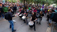 Cortes de tráfico y trenes en Cataluña por la huelga general por la sentencia del 'procés'