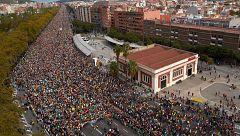 """Miles de personas llegan a Barcelona en las """"Marchas por la libertad"""" contra la sentencia del 'procés'"""