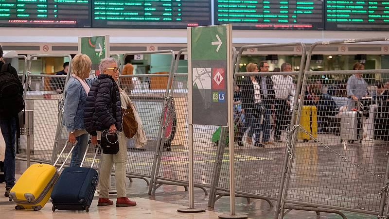 La huelga general en Cataluña registra un seguimiento desigual, con mayor incidencia en el transporte