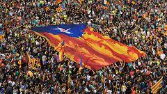 """Manifestación en Barcelona: La ANC llama a los partidos """"defender y sostener"""" una declaración de independencia"""
