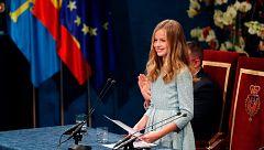 "Díscurso íntegro del primer discurso oficial de la princesa Leonor, que se compromete a ""servir a España"""