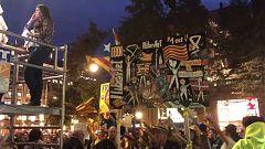 Agreden a dos equipos de TVE en la manifestación independentista de Barcelona