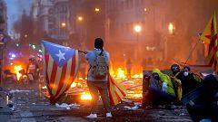 Avance informativo - Huelga independentista en Cataluña - 18/10/19 (3)