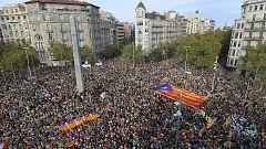 Huelga en Cataluña: Sin incidentes en la manifestación que rechaza la sentencia del 'procés'