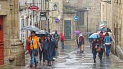 Lluvias en la mitad norte peninsular y temperaturas en descenso