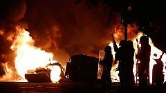 Mossos y Policia Nacial utilizaron gases lacrimógenos y escopetas con pelotas de goma