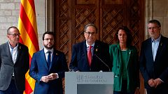 Torra insiste en desvincular la violencia del movimiento independentista y exige a Sánchez una reunión inmediata