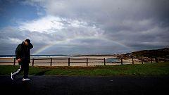 Cielos nubosos y con lluvias en  la mitad noroeste peninsular