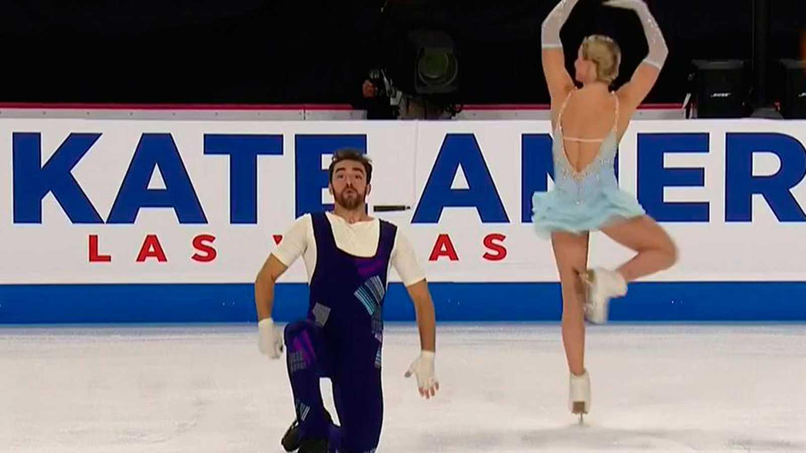 Olivia Smart y Adrià Díaz terminan en la cuarta posición con este original ejercicio