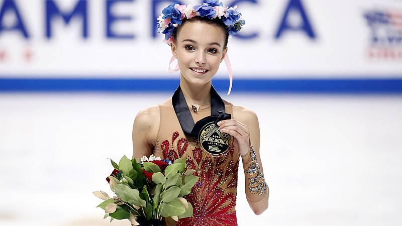 El ejercicio completo de Shcherbakova con sus dos giros cuádruples