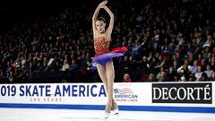 Los dos cuadrúples de Shcherbakova, de 15 años, que le han dado el Skate América