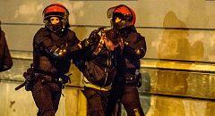 Diez detenidos en una protesta contra el mitin de Vox en Bilbao