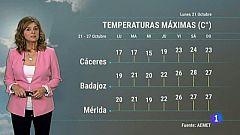 El tiempo en Extremadura - 21/10/19