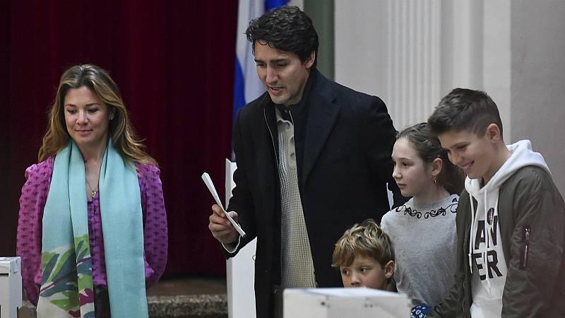 El canadiense Justin Trudeau se juega su futuro político en las elecciones