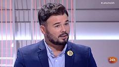 Entrevista completa a Rufián en La Noche en 24 horas