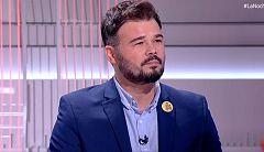 """Rufián, sobre los disturbios en Cataluña: """"Todo lo que ha pasado es un fracaso de la política"""""""