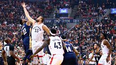 Los Raptors recogen el anillo de campeones y sufren para imponerse a Pelicans