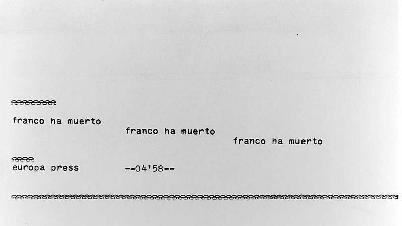 La primicia de la muerte de Franco