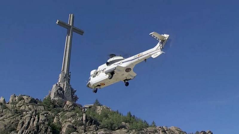 Los restos de Franco son trasladados en helicóptero al cementerio de Mingorrubio