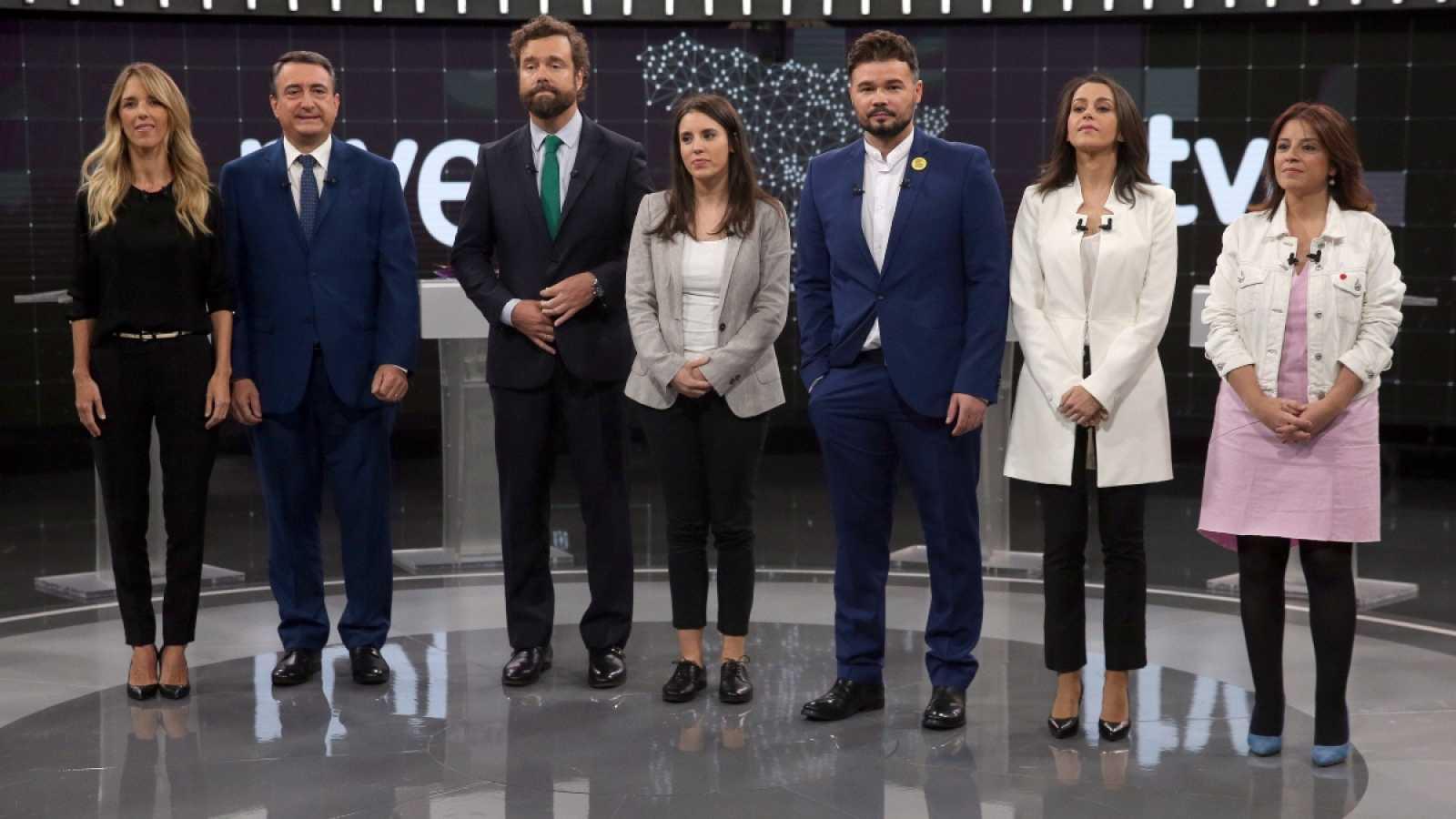 Los portavoces parlamentarios resumen sus propuestas en el 'minuto de oro' del Debate a 7