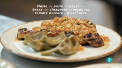 La ciencia de la salud - Muslo de pollo de payés a la brasa con vinagreta de verduras
