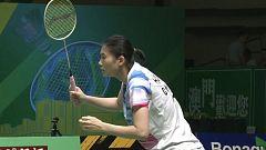 Bádminton - Open de Macau Final individual femenina: Li - Han Y.