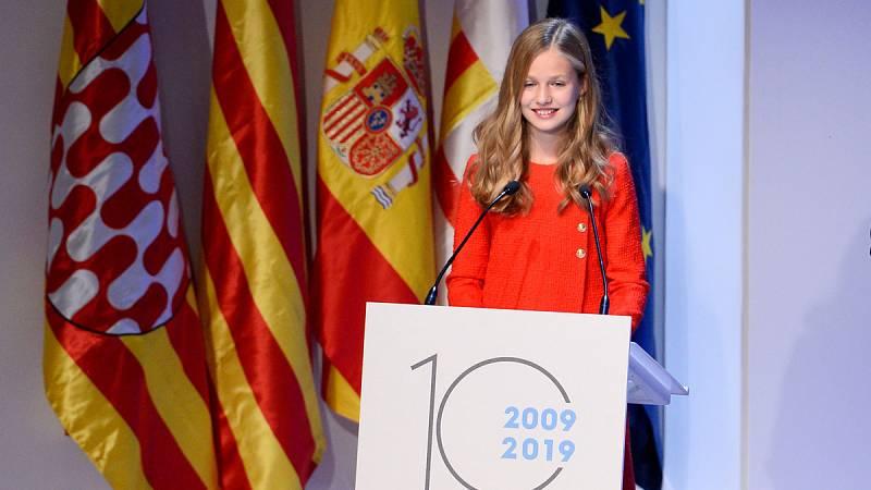 """La princesa Leonor en los premios Princesa de Girona 2019: """"Cataluña siempre tendrá un lugar especial en mi corazón"""""""