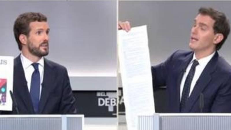 """Casado y Rivera se enzarzan por Cataluña: """"No se equivoque de adversario"""""""