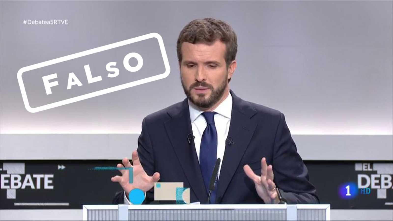"""Pablo Casado: """"Si está ahora en Moncloa (Pedro Sánchez) es porque le han apoyado Torra, Otegui y Junq"""