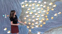 Descenso generalizado de las temperaturas y lluvias fuertes en el norte