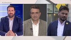 Los desayunos de TVE - Jon Iñarritu (EH Bildu); Aitor Esteban (PNV) y Gabriel Rufian (ERC)