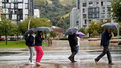 Precipitaciones fuertes en el extremo norte de Galicia y Cantábrico