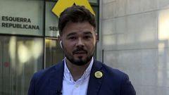 """Rufián, candidato de ERC al 10N, advierte: """"No se puede dialogar con un Sánchez que nos provoca constantemente"""""""
