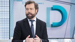 """Espinosa de los Monteros (Vox): """"Los partidos que no creen en la soberanía nacional, no deberían jugar en el parlamento español"""""""
