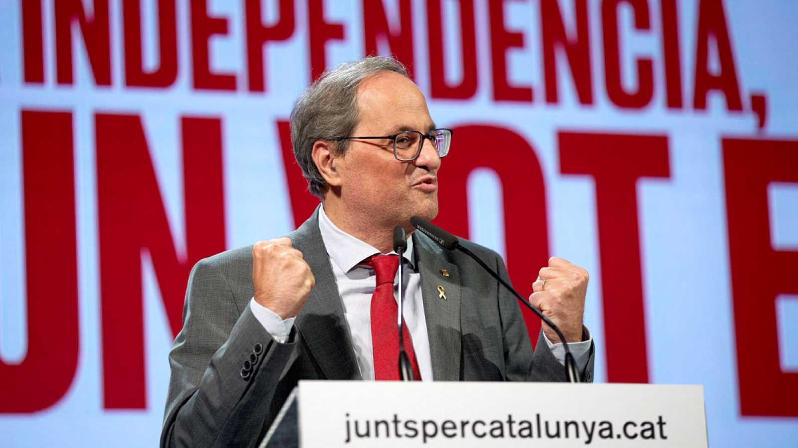 El Gobierno en funciones y Sánchez piden a Torra que dé explicaciones sobre su relación con los CDR