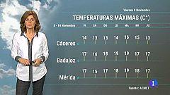 El tiempo en Extremadura - 08/11/19
